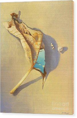 Leaf Of Life Wood Print