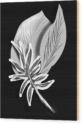 Leaf Ray Wood Print