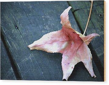 Leaf Wood Print by Stacie  Goodloe