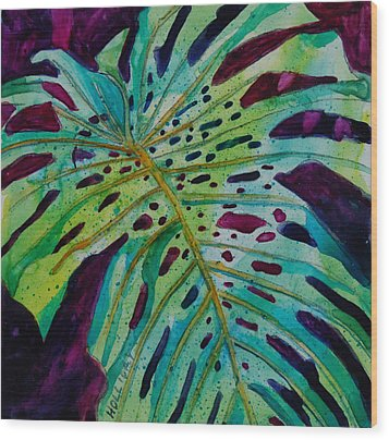 Leaf Wood Print by Terry Holliday