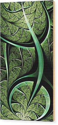 Leaf Texture Wood Print by Anastasiya Malakhova