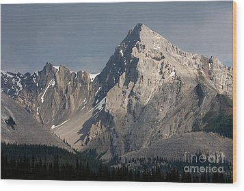 Wood Print featuring the photograph Leah Peak Canada by Chris Scroggins