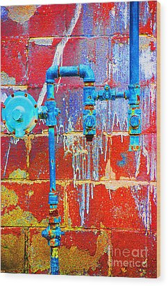 Wood Print featuring the photograph Leaky Faucet by Christiane Hellner-OBrien