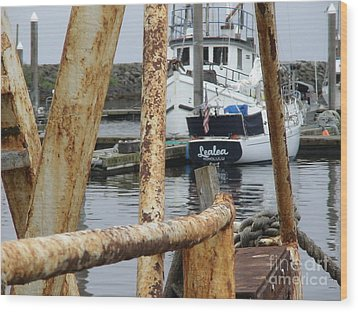 Wood Print featuring the photograph Lealea In Harbor by Laura  Wong-Rose