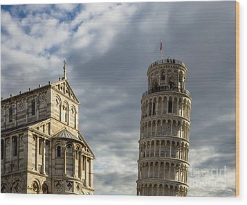 Leaning Tower And Duomo Di Pisa Wood Print