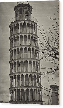 Wood Print featuring the photograph Leaning Tower by Miguel Winterpacht