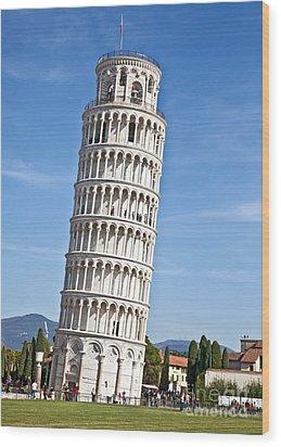 Leaning Tower Of Pisa Wood Print by Liz Leyden