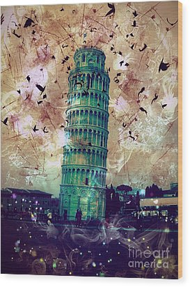 Leaning Tower Of Pisa 1 Wood Print
