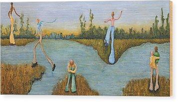 Leap Of Faith Wood Print by Linda Carmel