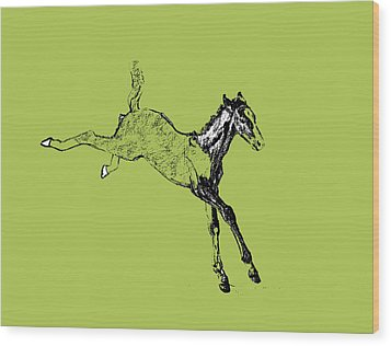 Leaping Foal Wood Print by JAMART Photography
