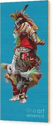 Leaping Into The Air Wood Print by Kathleen Struckle