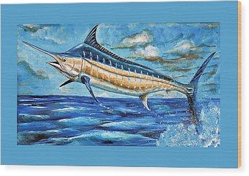 Leaping Marlin Wood Print