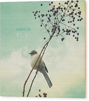 Learn To Fly Wood Print