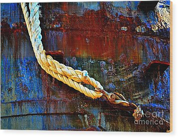 Learning The Ropes Wood Print by Lauren Leigh Hunter Fine Art Photography