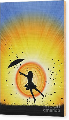 Learning To Fly Wood Print by Tim Gainey
