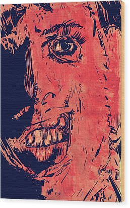 Leatherface Wood Print