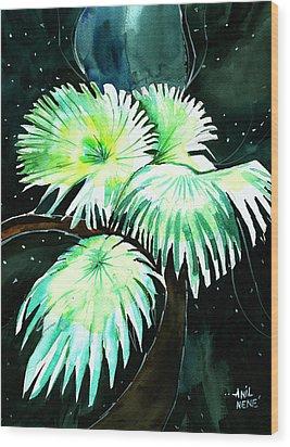 Leaves Wood Print by Anil Nene