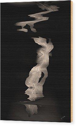 Leaves    Wood Print by Gerlinde Keating - Galleria GK Keating Associates Inc