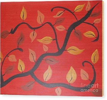 Leaves Wood Print by Krystal Jost
