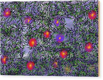 Leaves Of Life Wood Print by Kathy Mcdermott