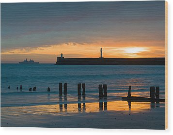Leaving Port Wood Print by Dave Bowman