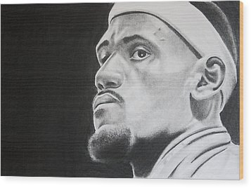 Lebron Wood Print by Don Medina