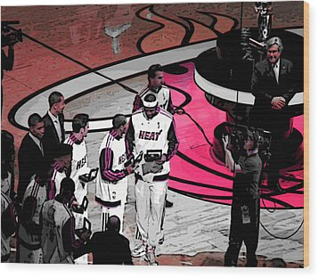 Wood Print featuring the photograph Lebron's 1st Ring by J Anthony