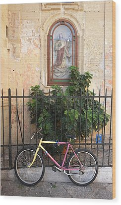 Lecce Italy Bicycle Wood Print by John Jacquemain
