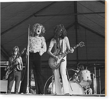 Led Zeppelin Bath Festival 1969 Wood Print