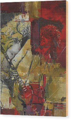 Led Zeppelin Wood Print by Corporate Art Task Force