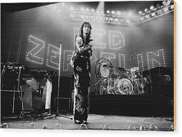 Led Zeppelin Lights 1975 Wood Print by Chris Walter