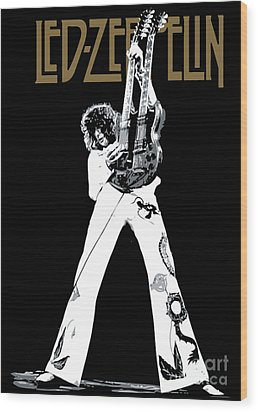 Led Zeppelin No.06 Wood Print by Caio Caldas