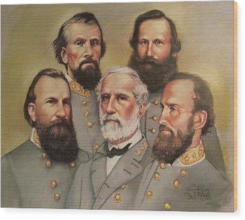 Lee And His Valiant Men Wood Print