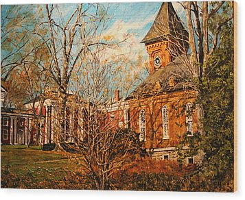 Lee Chapel From The Lower Walk Wood Print by Thomas Akers