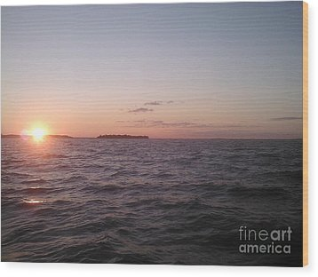 Leech Lake Sunset Wood Print