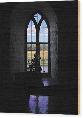 Leeds Castle Window Wood Print