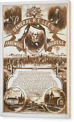 Lee's Farewell Address 1865 Wood Print by Padre Art