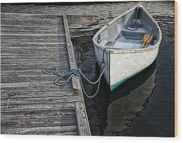 Left At The Dock Wood Print by Karol Livote