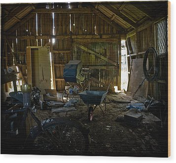 Wood Print featuring the photograph Left Behind by Liz  Alderdice