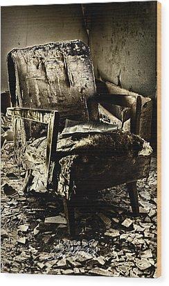 Left Behind-series 01 Wood Print by David Allen Pierson