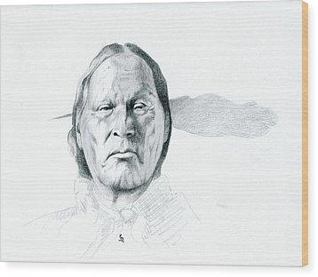 Left Hand Wood Print by Robert Martinez