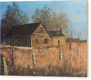 Left Standing Wood Print