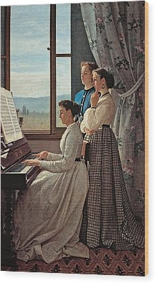 Lega Silvestro, The Folk Song, 1867 Wood Print by Everett