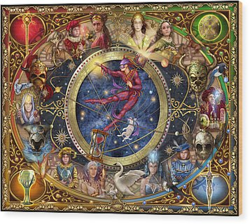 Legacy Of The Divine Tarot Wood Print