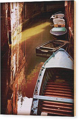 Wood Print featuring the photograph Legata Nel Canale by Micki Findlay