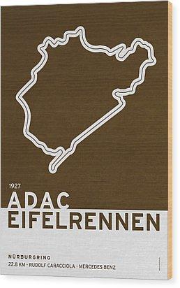 Legendary Races - 1927 Eifelrennen Wood Print by Chungkong Art