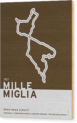 Legendary Races - 1927 Mille Miglia Wood Print by Chungkong Art