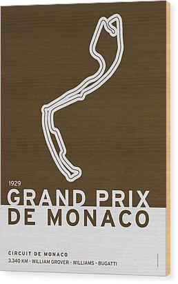 Legendary Races - 1929 Grand Prix De Monaco Wood Print by Chungkong Art