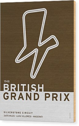 Legendary Races - 1948 British Grand Prix Wood Print by Chungkong Art