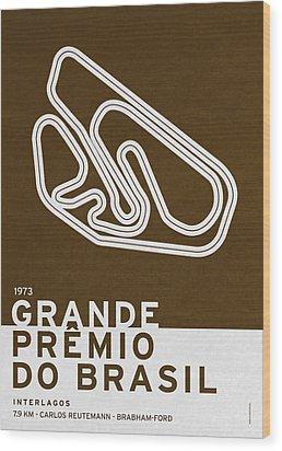 Legendary Races - 1973 Grande Premio Do Brasil Wood Print by Chungkong Art